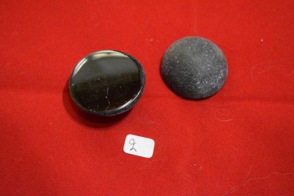 Galet de Tourmaline noire une face polie 2 Chrystina - Boutique Ésotérique