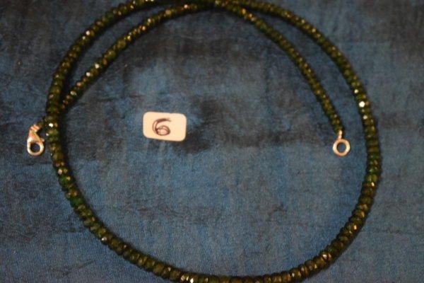 Collier en Émeraude véritable monté sur fils d'argent 6 Chrystina - Boutique Ésotérique