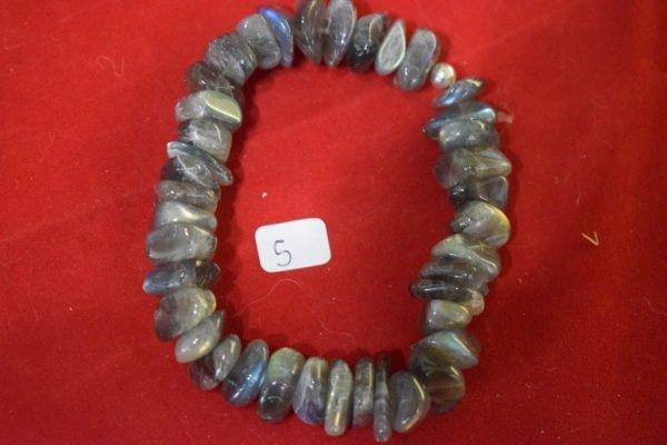 Bracelet Labradorite baroque 5 Chrystina - Boutique Ésotérique