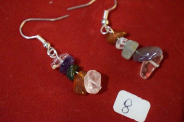 Boucles d'oreilles fantaisies 8 Chrystina - Boutique Ésotérique
